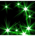 Green shining cosmic light vector image