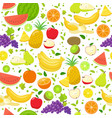 seamless fruit pattern on a white background vector image