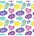 Speech bubbles with Hello and Hi words Seamless vector image