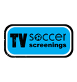 tv soccer screenings stamp vector image