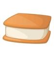 Waffle ice cream icon cartoon style vector image