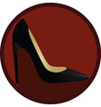 Women shoe icon vector image