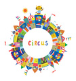 Circus frame for the card or banner funny design vector image vector image