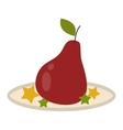 Pear fruit isolated vector image