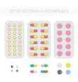 Set of pills and capsules vector image