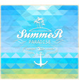 summer geometric mosaic background vector image