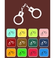 Handcuffs - icon with color variations vector image