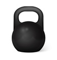Metal dumbbell - isolated on white vector image