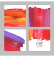 Set of abstract hand drawn acrylic backgrounds vector image vector image