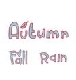 cartoon flat autumn set icon stickers vector image