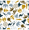 india country theme symbols icons pattern eps10 vector image