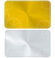 golden frame card vector image vector image