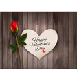 Happy Valentines Day background with a note on a vector image vector image