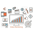 Video marketing strategy Abstract social vector image vector image