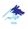 Shadow Hand Puppet Dog vector image