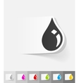 realistic design element drop of oil vector image