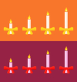 Advent candles vector image