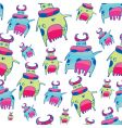 cute friendly cow pattern vector image