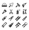 DIY Hand Tools Icons Set vector image