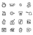 line coffee icon set vector image