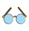 old glasses isolated vector image