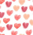 seamless watercolor hearts pattern vector image