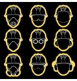 worker protective wear element sign set vector image