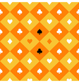 Card Suits Yellow Orange Chess Board Diamond vector image