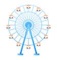 ferris wheel fun park in white background vector image
