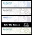 Different color of city vector image vector image