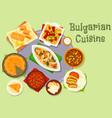 bulgarian cuisine dinner icon for food design vector image