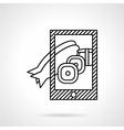 Fish dish photo icon line style vector image