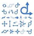 arrow signs vector image vector image