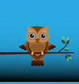 brown owl on a branch vector image