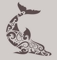 Dolphin ornament vector image