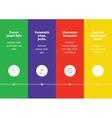 Timeline infographic Minimalistic design vector image