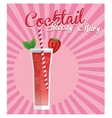 Colorful Summer cocktail design vector image