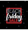 Black Friday Sale Lettering in Frame vector image