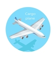Cargo Plane Isolated Freight Aircraft Freighter vector image