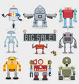 Robot set vector image