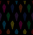 ice cream easy pattern linear-26 vector image