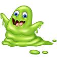 Green slimy monster vector image