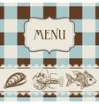 seafood menu vector image vector image