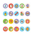 Fitness and Health Colored Icons 5 vector image