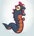 Cute cartoon worm monster Halloween vector image