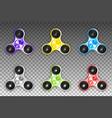 fidget spinners popular antistress hand toys eps vector image
