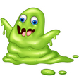 Green slimy monster vector image