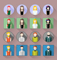 icon set in flat style vector image