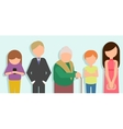 People standing in line vector image