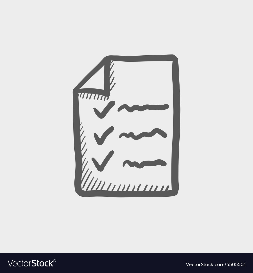 Checklist sketch icon vector